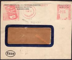 Argentina - 1949 - Lettre - Cachet Spécial - Affranchissement Mécanique - EssoLube - ESSO - A1RR2 - Brieven En Documenten