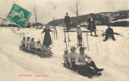 """CPA FRANCE 25 """" Pontalier, Sports D'hiver"""" / LUGE - Pontarlier"""