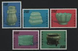 Taiwan 1974 - Mi-Nr. 997-1001 ** - MNH - Porzellan / Porcelain - Ungebraucht