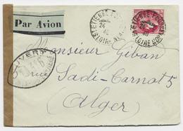 N° 373 SEUL LETTRE AVION ST ETIENNE 24.5.1940 POUR ALGERIE + CENSURE TA 316 - 1921-1960: Modern Period