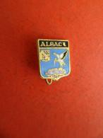 No Pins Broche Blason Héraldique émail ALSACE Oiseau Cigogne - Città