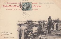 Africa Kola Kina Des Explorateurs Courtois - Lessive Au Bord Du Sénégal - Publicité