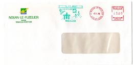 LOIR Et CHER - Dépt N° 41 = NOUAN Le FUZELIER 1998 = ENVELOPPE ENTIERE MAIRIE + EMA Illustrée OISEAU / SOLOGNE - EMA ( Maquina De Huellas A Franquear)