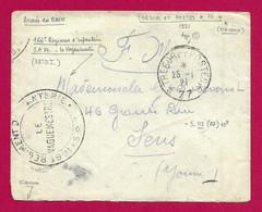 """Enveloppe Datée De 1921 - Occupation Alliée - Oblitération """"Tésor Et Postes - Secteur Postal 77"""" - French Zone"""