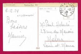 """Écrit Sur Carte Postale Daté De 1924 - Occupation Alliée - Oblitération """"Poste Aux Armées - Bureau Frontière C"""" - Zona Francesa"""