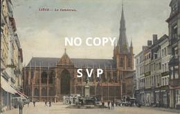 00931 LIEGE LUIK // LA CATHEDRALE // DOS DIVISE // ECRITE // TIMBRE - Luik