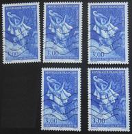 3058 France 1997 Oblitéré Europa Contes Et Légendes Le Chat Botté Charles Perrault Dessin Gustave Doré Lot De 5 Timbres - Used Stamps