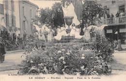 63-LE-DORAT- FÊTE-DIEU- REPOSOIR PLACE DE LA FONTAINE - Otros Municipios