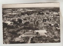 CPSM CHATEAU DU LOIR (Sarthe) - Les Ecoles, Panorama Sur La Ville Vue Aérienne - Chateau Du Loir