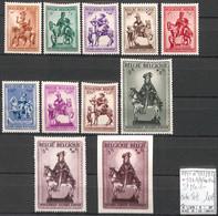 [855550]TB//**/Mnh-c:50e-Belgique 1941 - N° 583/92, +592 A/B Du Bloc, St Martin - Neufs