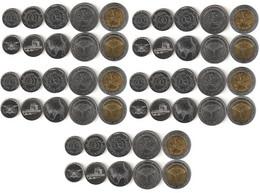 Yemen - 5 Pcs X Set 5 Coins 1 5 10 20 20 Rials 1993 - 2009 UNC Lemberg-Zp - Yemen