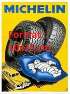 Reproduction Photographie D'une Affiche Publicitaire Michelin Avec Bibendum Couché Dans Un Oreiller - Reproductions