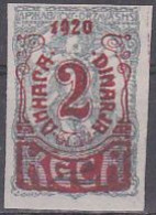 Jugoslawien 1920 (Ausgabe F. Slowenien): Kärntener Abstimmungsmarken. 2 Dinar A. 2 F. Grau, Mi 144 Ungebraucht - Nuevos