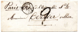 Enveloppe 12 Avril 1850 Taxe 2 Décimes Tampon Timbre à Date Type 15 Saint Avold Longeville Faulquemont Freyming Sellier - Manuscripts