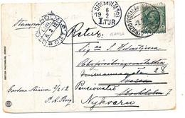 1912 SERVIZIO POSTALE SUL LAGO DI GARDA (1)SU CARTOLINA X LA SVEZIA - Poststempel
