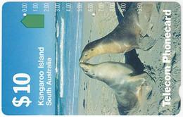 AUSTRALIA B-697 Magnetic Telecom - Animal, Seal - Used - Australia