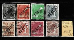 BERLIN 1948 Lot Aus Mi. Nr. 1/14 Gestempelt - Non Classificati