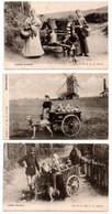 Laitieres Flamandes - Attelage Chiens - Vlaamse Melkvrouwen - Hondenkar - Gendarme - Lot 4 CP - 6 Scans - Craft
