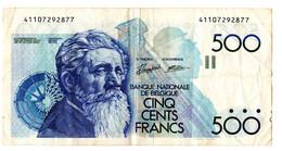 500 FB Constantin Meunier - 500 Francs