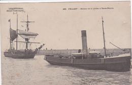 76 FECAMP Retour De Pêche à Terre Neuve , Remorqueur Hercule Tirant Terre Neuvas 1905 - Fécamp
