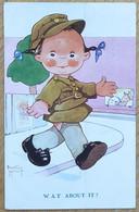 "Carte Postale - Illustratrice Beatrice Mallet - W.A.T. About It? Fillette Militaire - Tuck ""Cute Kiddies"" No 5331 D - Mallet, B."