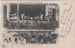 PARIS LE ROI EDOUARD VII VU AUX COURSES DE LONGCHAMPS 1903 PRECURSEUR TBE - Other