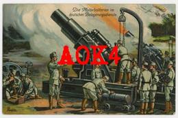 KuK Motorbatterie 30,5 Cm Skoda 1914 Belgien Antwerpen Lüttich Namur Belagerung Feldpost - Regiments
