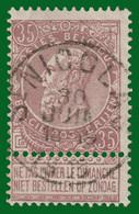 """COB N° 61 - Fine Barbe - 35c Brun - Très Belle Oblitération """" St. NICOLAS"""" - 1893-1900 Fine Barbe"""