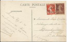 SOLDES - 1907- N° 138 Et 139 Obl.(o) Sur Carte - Carte LOURDES - Covers & Documents