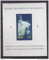 DDR  Block 17, Postfrisch **, Erster Gruppenflug Im Kosmos 1962 - Blokken