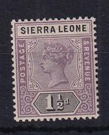 Sierra Leone: 1896/97   QV     SG43     1½d      MH - Sierra Leone (...-1960)