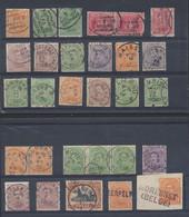 émission 1915 - Petit Lot D'oblitération Choisies çàd Journal, Relais, Fortunes Sur Différentes Valeurs. A Voir ! (25 Pi - 1915-1920 Albert I