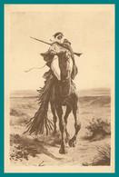 Algérie - MASCONI - Un Rekkas Du Désert - Facteur - Touareg à Cheval - Collection R. PROUHO HUSSEIN DEY - 1938 - Profesiones