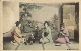 3 Jeunes Japonaises TEA CEREMONY  Colorisée  RV Beau Timbre 10 Indochine - Zonder Classificatie