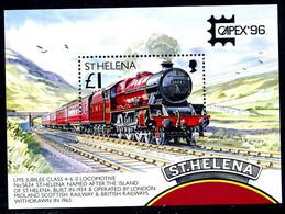 St. Helena 1996 CAPEX Stamp Exhibition Mail Transport Train MS, MNH, SG 725 - Sainte-Hélène