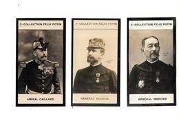 CP48 - CHROMOS  FELIX POTIN 2ème COLLECTION - GENERAL MERCIER - GENERAL HAGRON - AMIRAL CAILLARD - Félix Potin