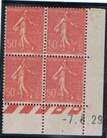 50c Semeuse Lignée Yvert 199, Z De Z+I4 Du 7-8-29, * - ....-1929