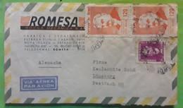 BRASIL BRESIL BRAZIL Carta Lettre Fabrica ROMESA Nova Iguacu, Estado Do Rio , 1965 > Luneburg BRD, TB - Cartas