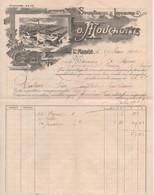 SPIRITUEUX & LIQUEURS - O.MOUCHOTTE Distillateur à St-MANDE (94) Facture Du 27/03/1902 - Food