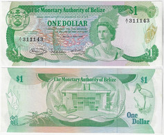 Banknote Belize 1 Dollar 1980 Pick-38a Queen Elizabeth II Unc - Belize