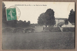 CPA 77 - SOIGNOLLES - Le Pont Et Le Moulin - TB PLAN Edifice INDUSTRIE - Other Municipalities