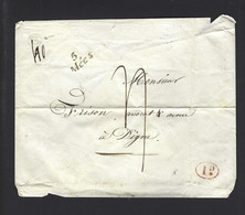 BASSES ALPES CURSIVE LES MEES  CAD DIGNE BOITE RURALE G 12 MAI 1840 - 1801-1848: Precursori XIX