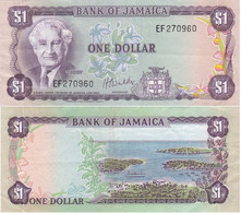 Jamaica - 1 Dollar 1976 ( 1960 ) VF P. 59b Serie EF Lemberg-Zp - Jamaica