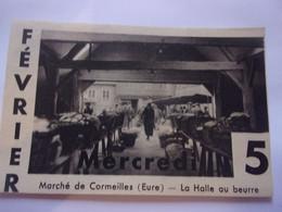 (2) 1936 IMAGE CALENDRIER //  NORMANDIE MARCHE DEE CORMEILLES LA HALLE AU BEURRE - Unclassified