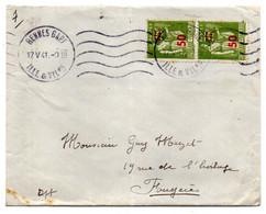1941-Lettre De Rennes-gare-35 Pour Fougères-35-type Paix N°480  Paire Verticale  Sur Lettre- Cachet Krag - 1921-1960: Modern Period