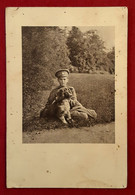 PHOTO Format CPA  Du TSAREVITCH ALEXIS NIKOLAIEVITCH ROMANOV Avec Son Chien, Fils Du TSAR DE RUSSIE NICOLAS II - Fotografia