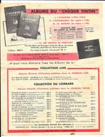 """PUBLICITE - ALBUMS DU """"Chèque TINTIN"""" - Journaux Tintin Et Line - Bon De Commande Du Chèque Tintin - Advertising"""