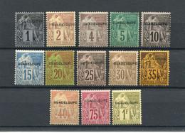 !!! PRIX FIXE : GUADELOUPE, SERIE N°14/26 NEUVE * - Unused Stamps