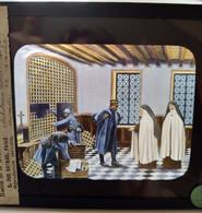 Guerre 1914-18 - WW1 - Militaires Infirmiers Dans Un Monastère De Carmélites -- PLAQUE De VERRE LANTERNE MAGIQUE - TBE - Diapositiva Su Vetro