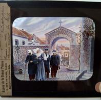Guerre 1914-18 - WW1 - Religieuse Infirmière Et Blessés - PLAQUE De VERRE LANTERNE MAGIQUE - TBE - Diapositiva Su Vetro